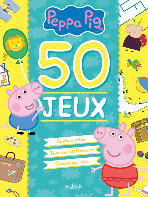 livre peppa pig 50 jeux xxx hachette jeunesse peppa 9782011801753. Black Bedroom Furniture Sets. Home Design Ideas