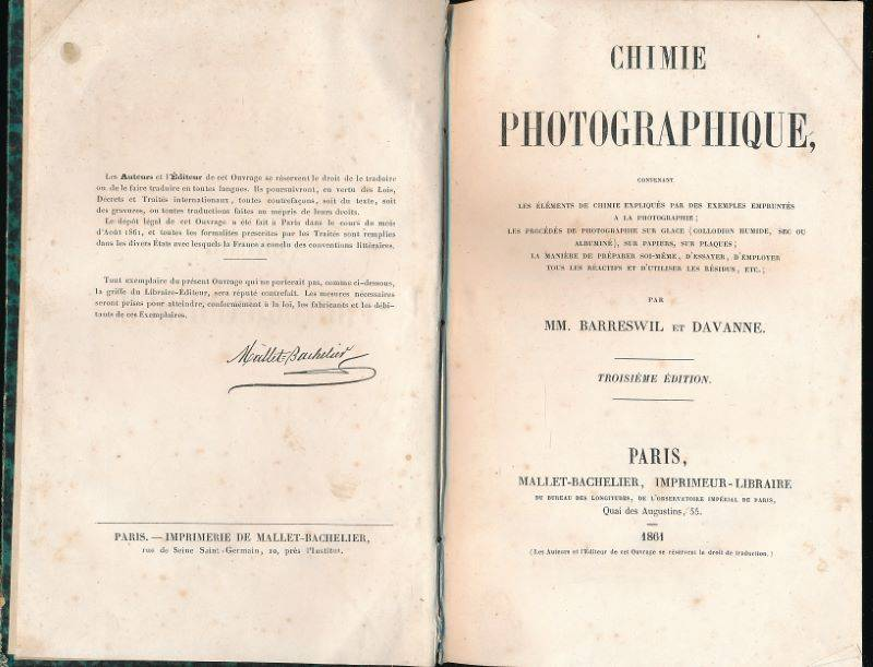Chimie photographique