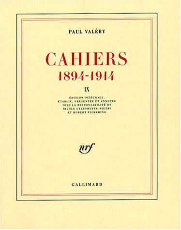 Cahiers ., X, 1910-1911, Cahiers (Tome 9-1907-1909), (1894-1914)
