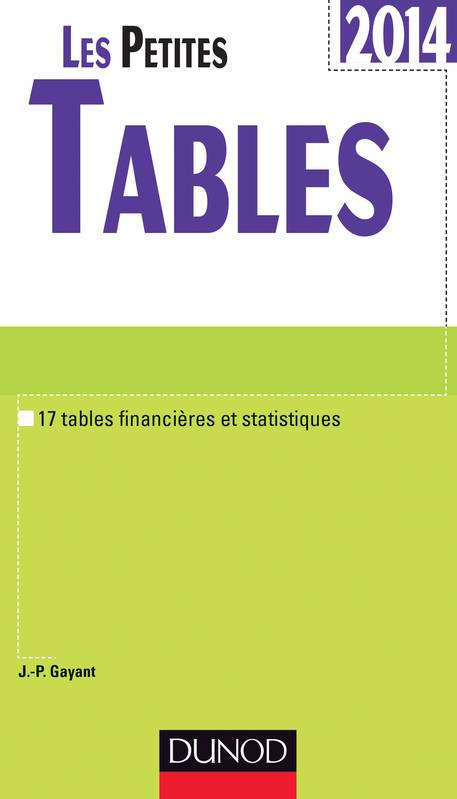 Livre les petites tables 2014 17 tables financi res et for Table financiere