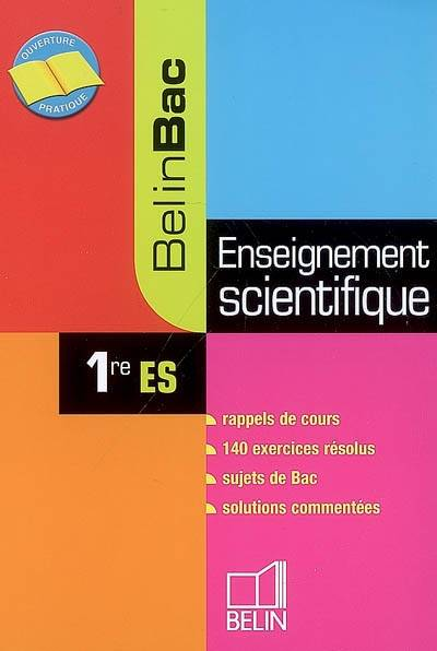 Enseignement scientifique 1re ES