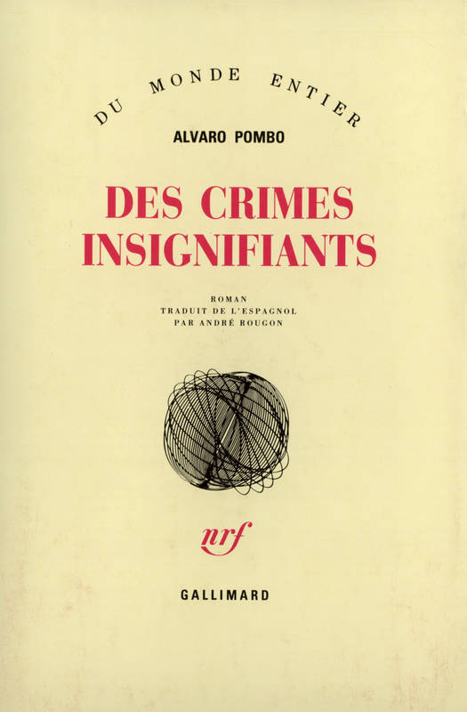 Des crimes insignifiants, roman