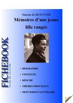 ebook fiche de lecture m moires d 39 une jeune fille rang e simone de beauvoir les editions de l. Black Bedroom Furniture Sets. Home Design Ideas