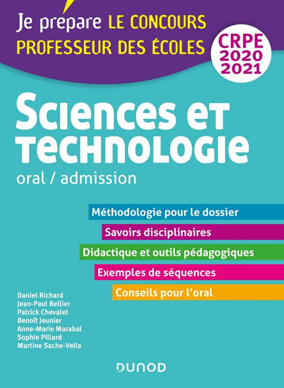 Sciences et technologie - Oral, admission - CRPE 2020-2021