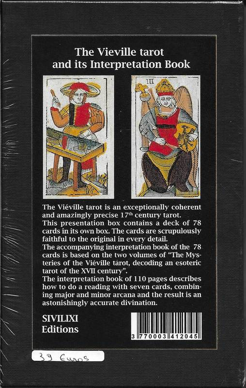 Coffret Tarot de Vieville. Version ANGLAISE : the vieville tarot and its interpretation book
