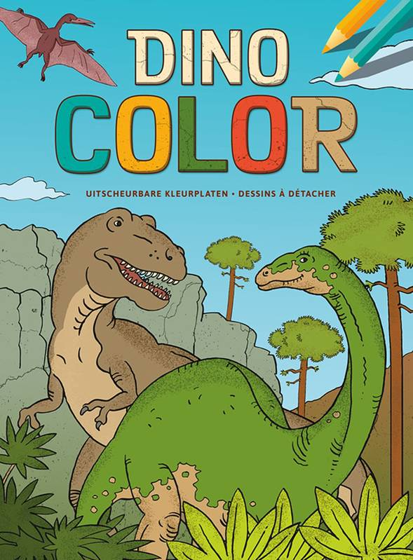DINO COLOR BLOC DE COLORIAGE
