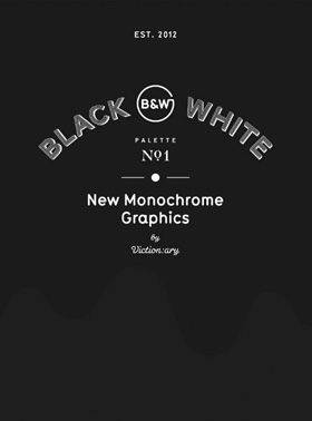 PALETTE 01 BLACK & WHITE - NEW MONOCHROME GRAPHICS /ANGLAIS