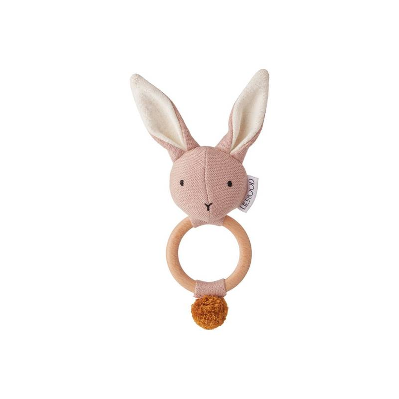Hochet tricot aria Lapin Rose
