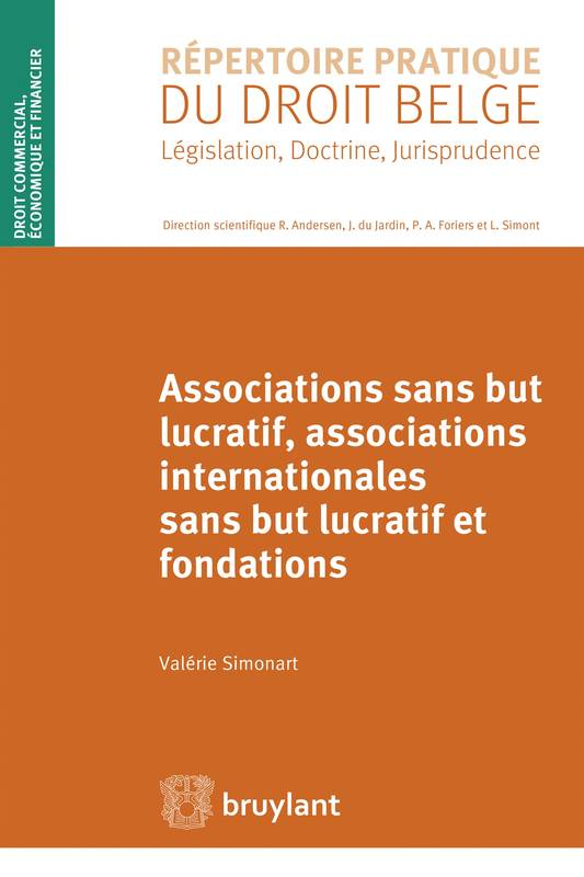 Associations sans but lucratif, associations internationales sans but lucratif et fondations