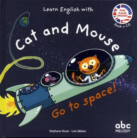 Learn english with cat and mouse - go to space