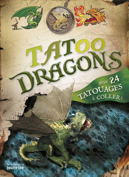 Tatoo Dragons. avec 24 tatouages à coller