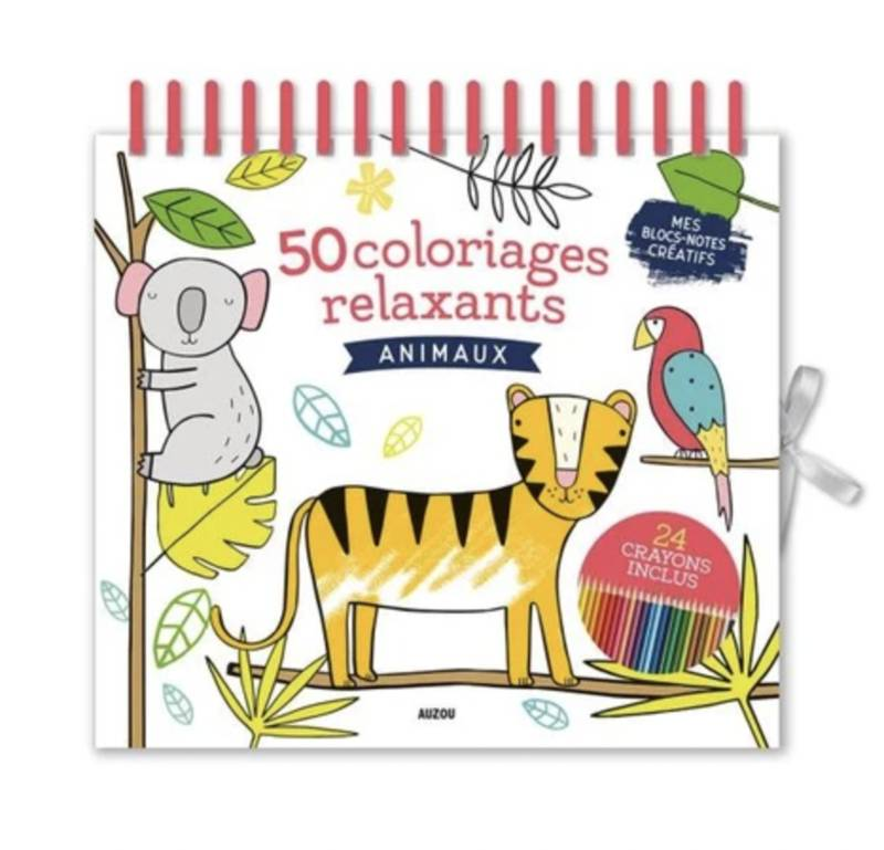 50 coloriages relaxants, animaux