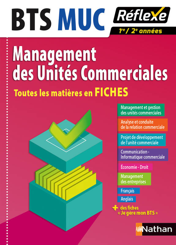 livre toutes les mati res en fiches management des unit s commerciales bts muc collectif. Black Bedroom Furniture Sets. Home Design Ideas