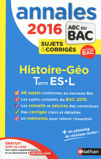 livre annales abc du bac 2016 histoire g ographie term es l pascal jezequel frederic. Black Bedroom Furniture Sets. Home Design Ideas
