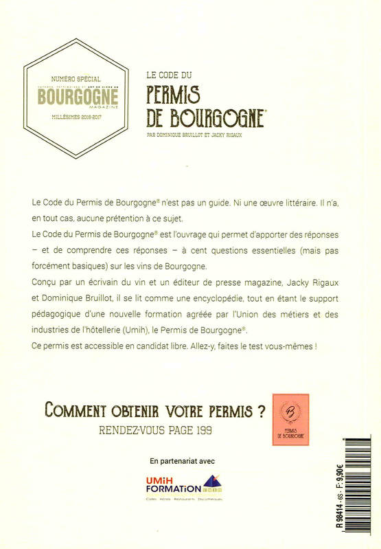 livre le code du permis de bourgogne comprendre les vins de bourgogne en 100 questions fourni. Black Bedroom Furniture Sets. Home Design Ideas