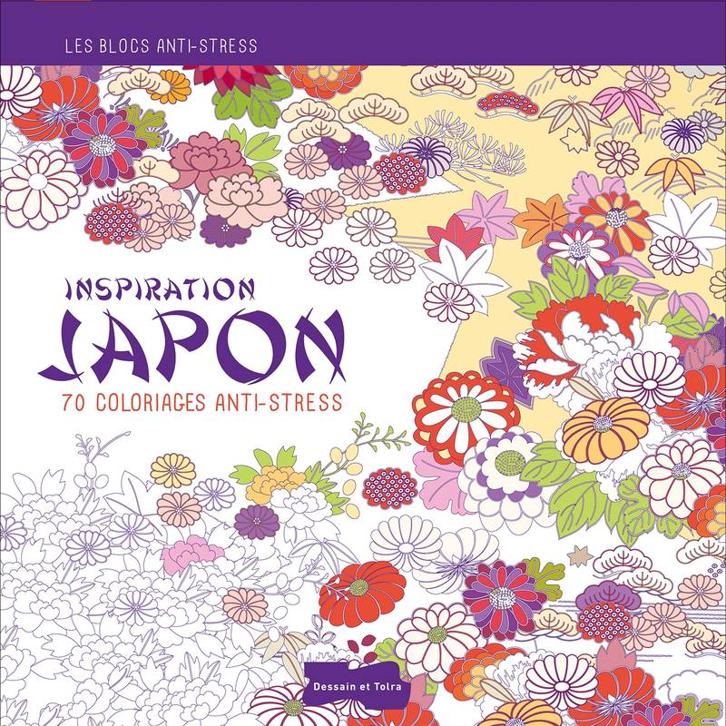 Coloriage Anti Stress Ecole.Livre Inspiration Japon 70 Coloriages Anti Stress Collectif