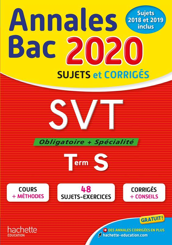Annales Bac 2020 SVT Term S