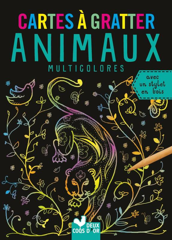 Cartes à gratter - Animaux multicolores