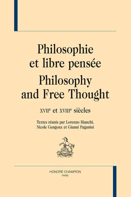 PHILOSOPHIE ET LIBRE PENSEE. PHILOSOPHY AND FREE THOUGHT