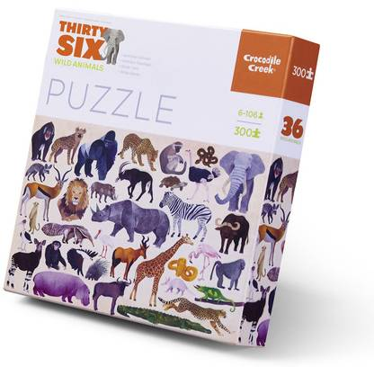 Animaux sauvages puzzle 300 pièces Thirty six, Wil