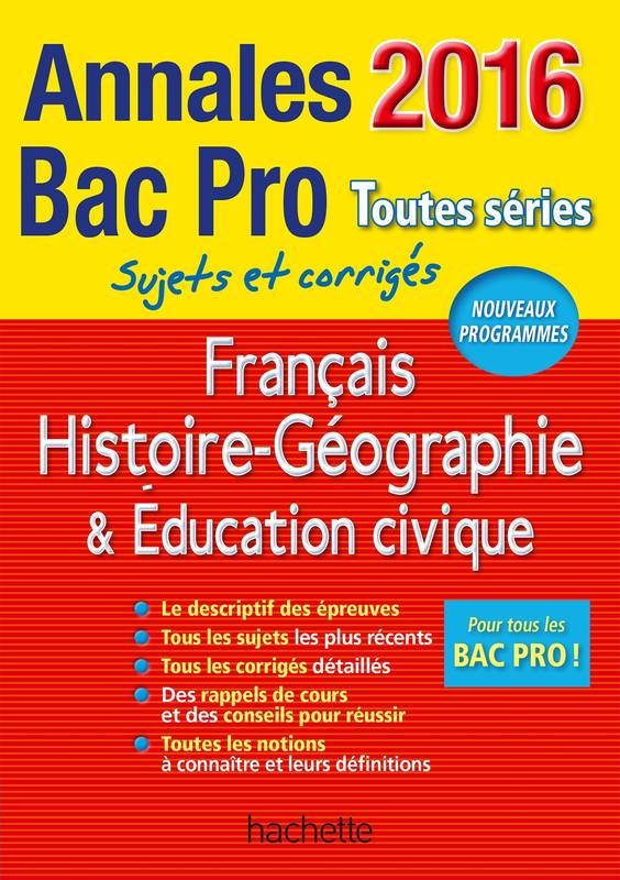 livre annales 2016 hist geo fran ais bac pro lo c valentin michel corlin alain prost. Black Bedroom Furniture Sets. Home Design Ideas