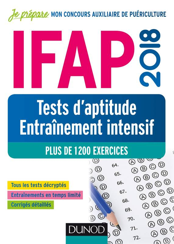 IFAP 2018 - Tests d'aptitude - Entraînement intensif - Plus de 1200 exercices, Plus de 1200 exercices