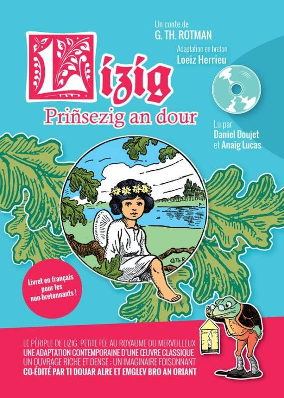 LIZIG PRINSEZIG AN DOUR (LIVRE+CD+LIVRET TRADUCTION  EN FRANCAIS)