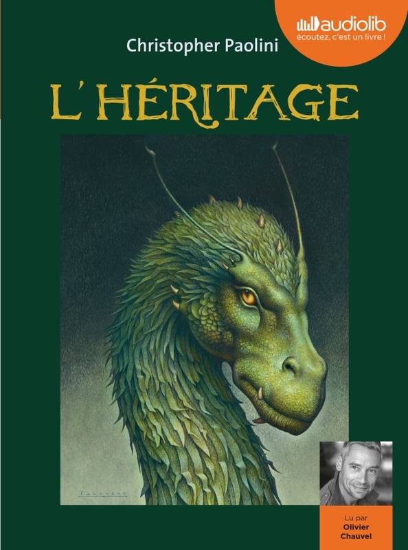 Eragon 4 - L'Héritage, Livre audio 3 CD MP3 - Livret 8 pages
