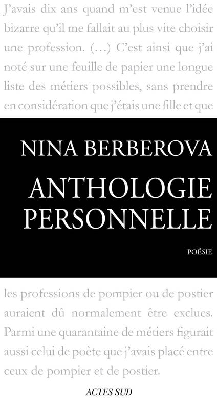 Anthologie personnelle 1921-1983, 1921-1983