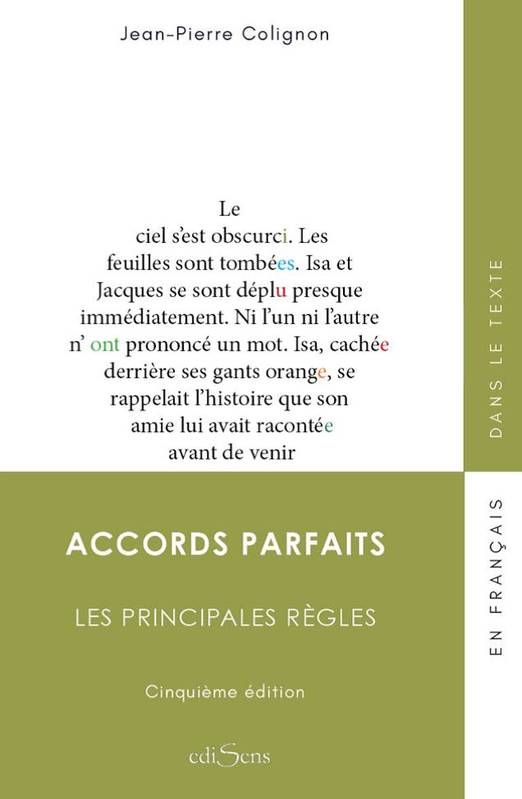 ACCORDS PARFAITS. LES PRINCIPALE REGLES