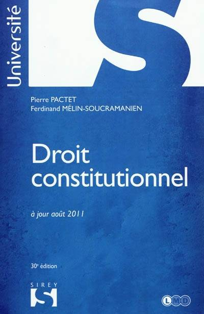 Droit constitutionnel - 30e éd., Université