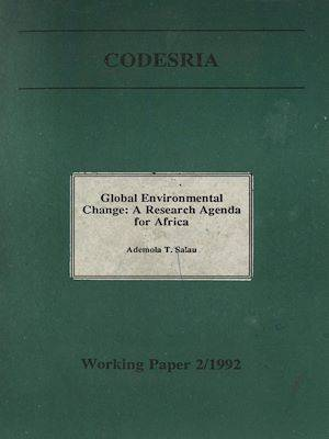 Global environmental change : A research agenda for Africa