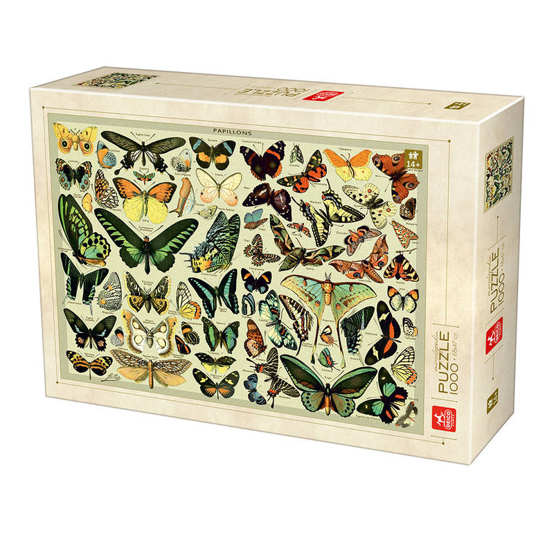 PUZZLE 1000PCS ENCYCLOPEDIA BUTTERFLY