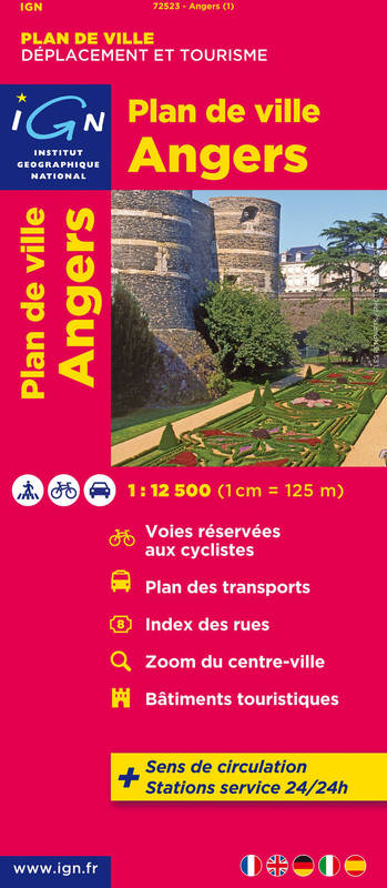 AED 72523 PLAN D'ANGERS  1/12.500