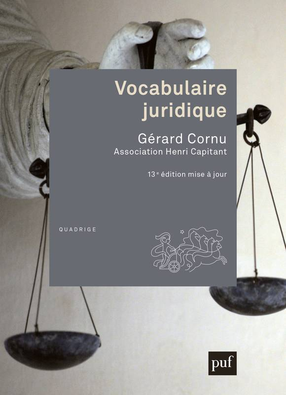 Vocabulaire juridique, Association Henri Capitant