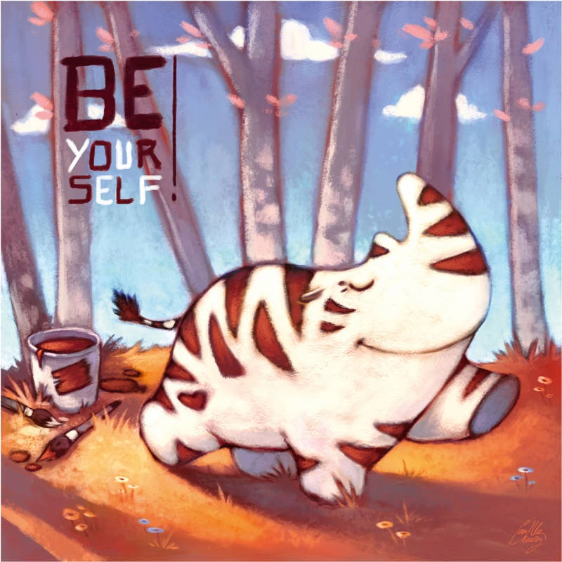 Playmat - Be Yourself - 40x40 (Camille Chaussy)