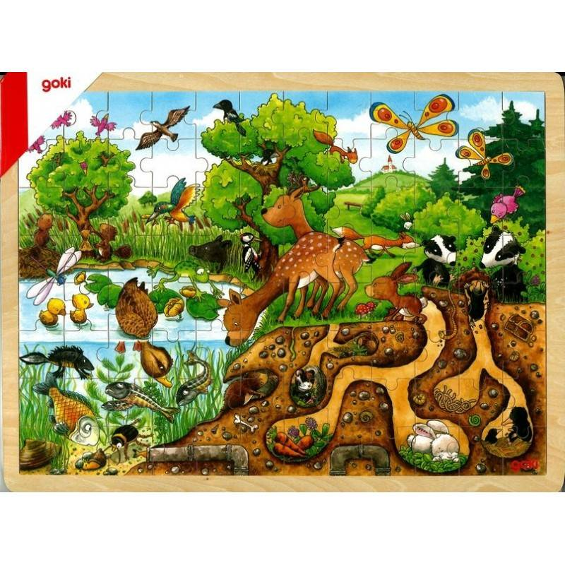 PUZZLE DECOUVERTE DE LA NATURE 96 PIECES