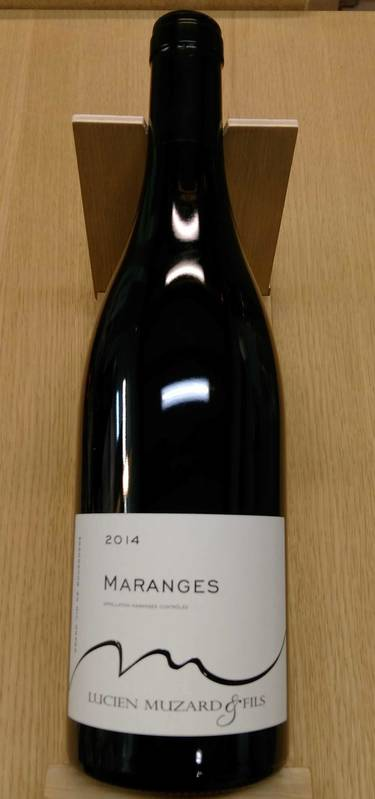 maranges 2014 vin rouge pinot noir bourgogne c te de beaune muzard lucien athenaeum de la. Black Bedroom Furniture Sets. Home Design Ideas