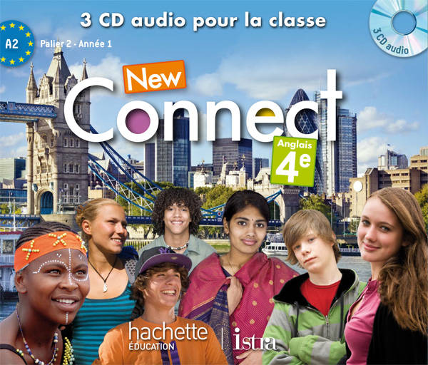 New Connect 4e / Palier 2 Année 1- Anglais - CD audio classe - Edition 2013