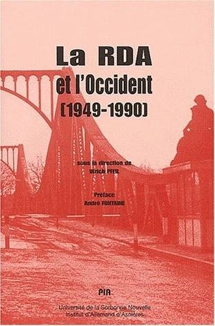 Livre la rda et l 39 occident 1949 1990 colloque for Ulrich pfeil