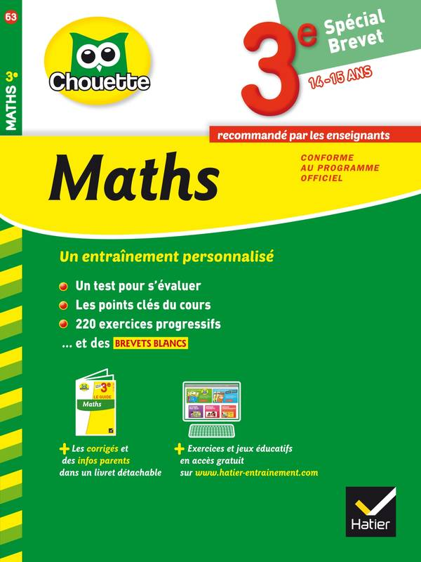 livre maths 3e sp cial brevet cahier de r vision et d 39 entra nement bernard revranche daniel. Black Bedroom Furniture Sets. Home Design Ideas