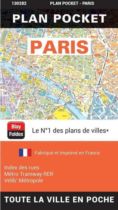 Paris plan pocket
