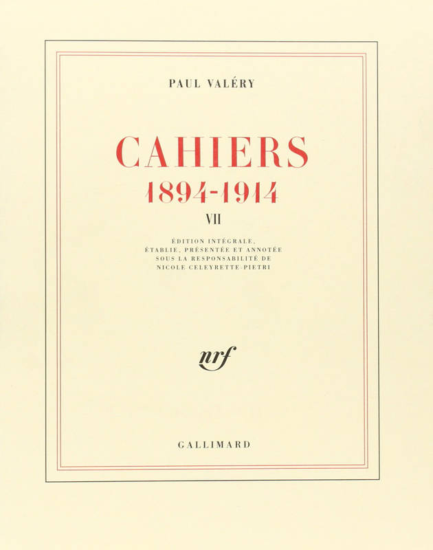 Cahiers ., VII, 1904-1905, Cahiers (Tome 7-1904-1905), (1894-1914)