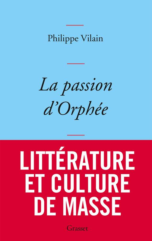 La passion d'Orphée, couverture bleue