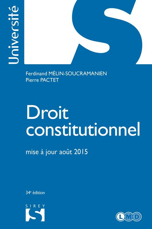 Droit constitutionnel - 34e éd.