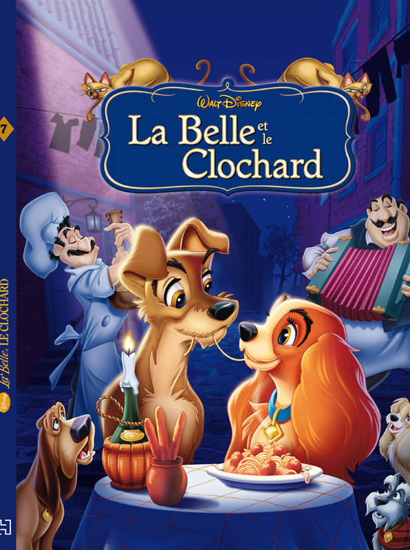 livre la belle et le clochard disney cinema walt disney hachette jeunesse collection disney. Black Bedroom Furniture Sets. Home Design Ideas