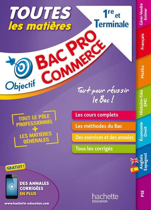 livre objectif bac pro toutes les mati res 1 re et term bac pro commerce r my colin oscar. Black Bedroom Furniture Sets. Home Design Ideas