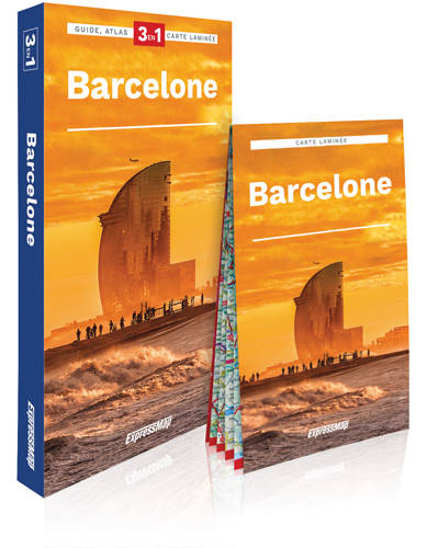 Barcelone 3 en 1 / guide + atlas + carte