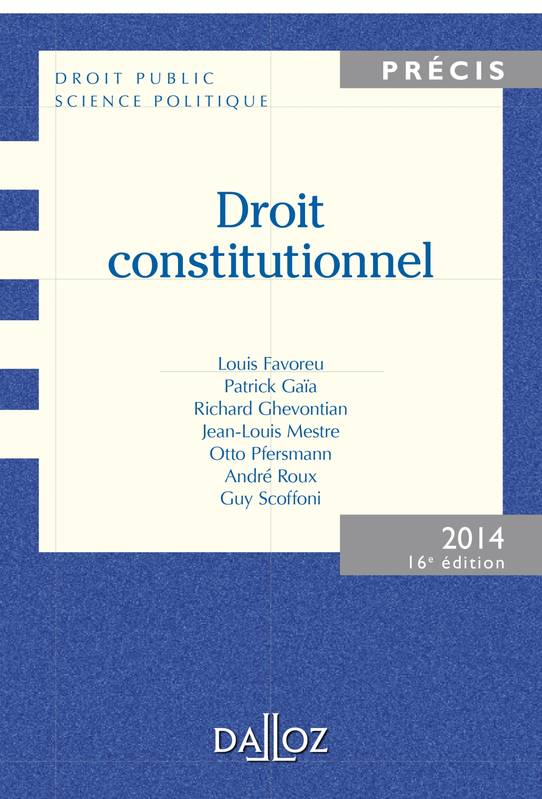 Droit Constitutionnel - 16e édition