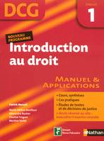 DCG, 1, Introduction au droit épreuve 1. Manuel et applications, manuel & applications